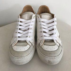 MM6 Maison Martin Margiela White Low-Top Sneaker